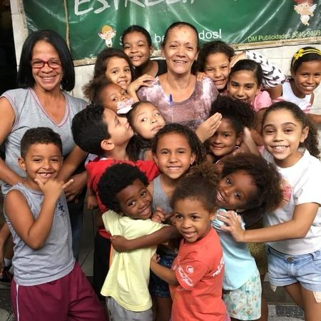 Crianças que participam do espaço Recreação Infantil Estrelinha, no Complexo do Alemão - Arquivo pessoal/Carolina Marinho