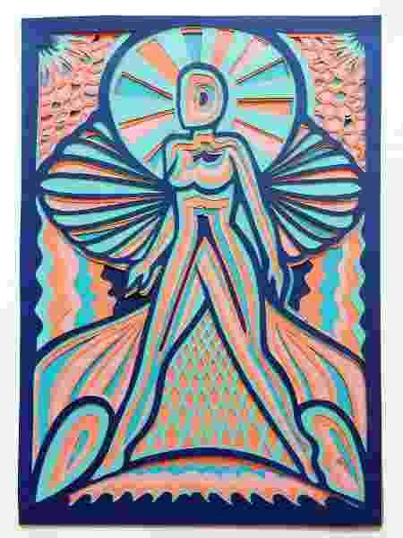 Pintura feita por Ariádine  - Arquivo Pessoal - Arquivo Pessoal