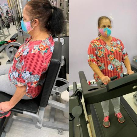 Paciente do HC-FMUSP fazendo exercício - Cedida por Tiago Peçanha/Jornal da USP
