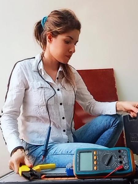 A eletricista paraibana Flávia Lima - Arquivo pessoal