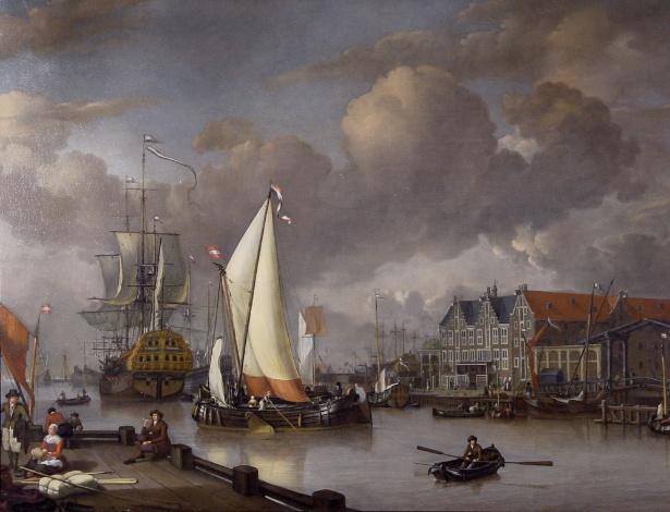 """7.dez.2015 - """"View of Oostereiland"""" (1652-1719), uma das pinturas do século 17 levadas de um museu holandês e que foram achadas dez anos depois - AFP"""
