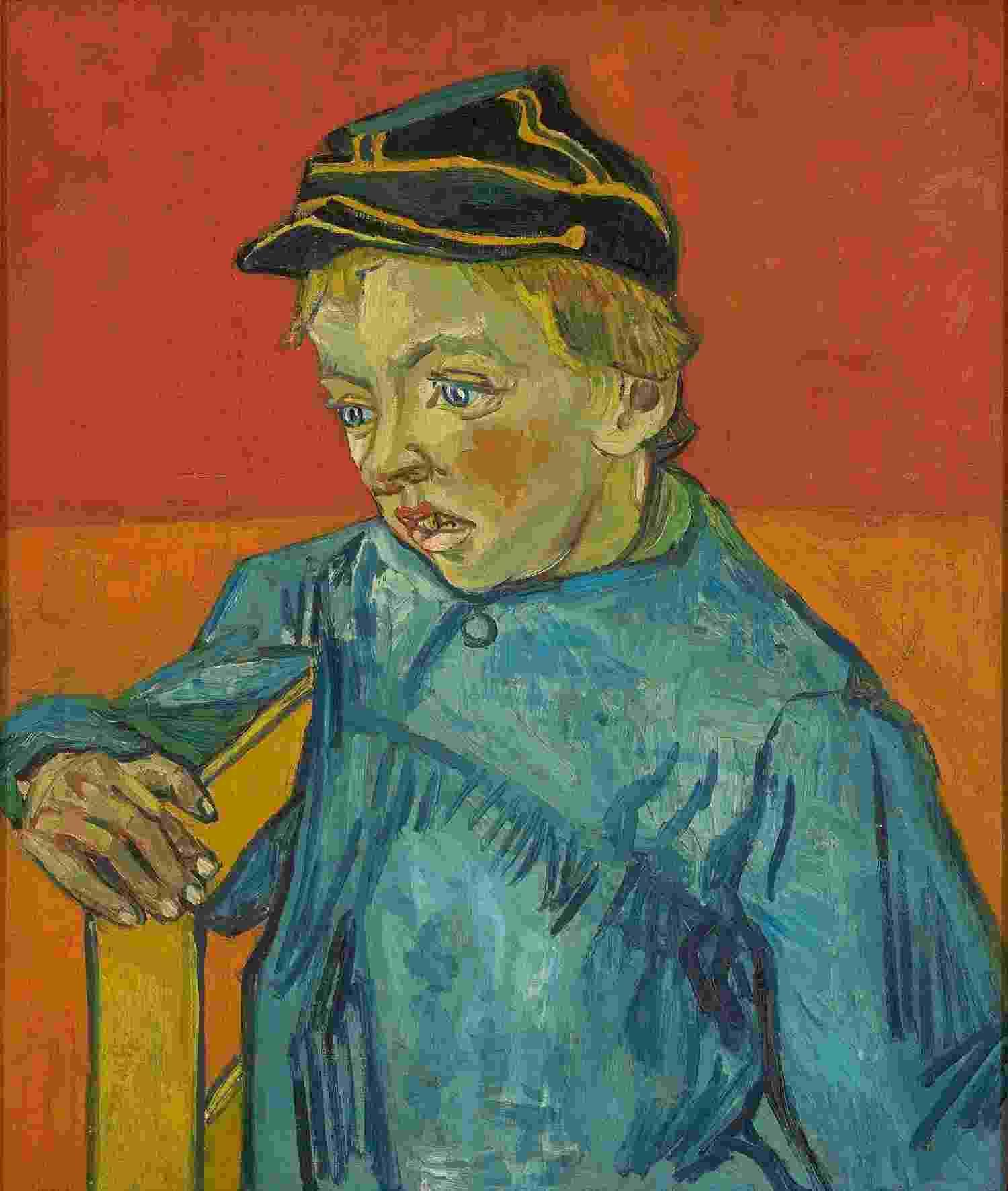 Vincent Van Gogh, O Escolar (o filho do carteiro - Gamin au Képi), 1888, óleo sobre tela, 63 x 54 cm - Acervo do Masp