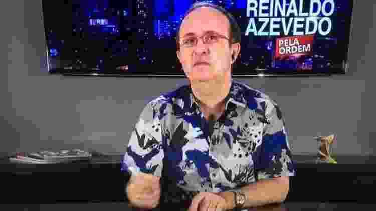 Reinaldo Azevedo na RedeTV! News - Reprodução/RedeTV! News - Reprodução/RedeTV! News