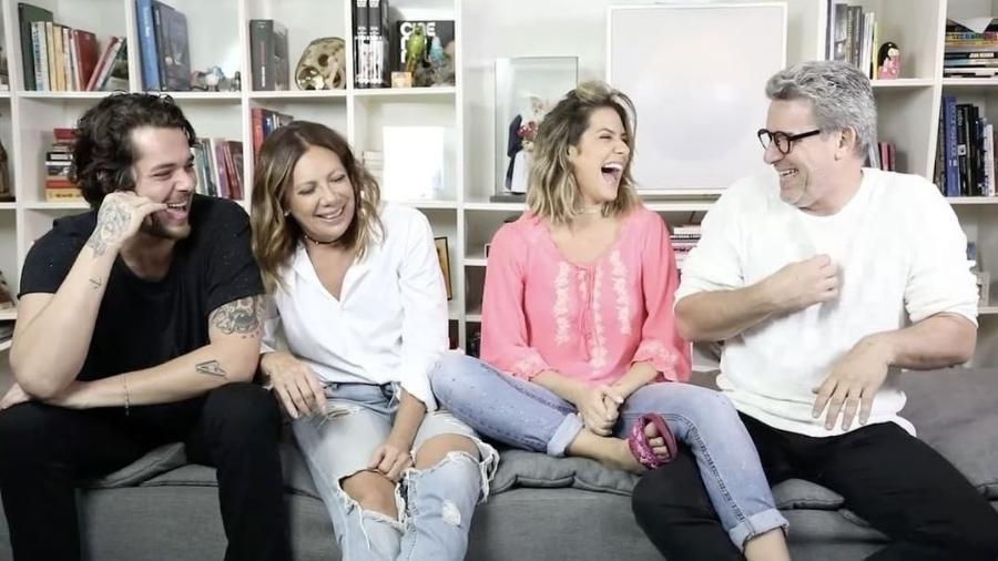Giovanna Ewbank e família, em vídeo do canal da apresentadora - Reprodução/Instagram