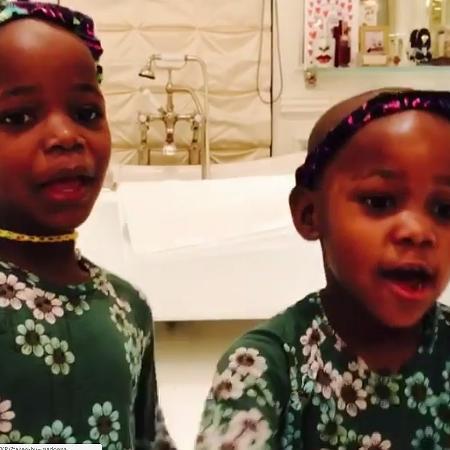 As gêmeas Esther e Stella, filhas de Madonna - Reprodução/Instagram/@madonna