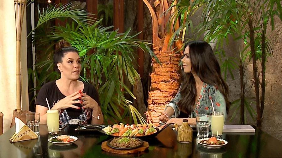 """Simony é entrevistada por Daniela Albuquerque no programa """"Sensacional"""", da RedeTV! - Divulgação/RedeTV!"""