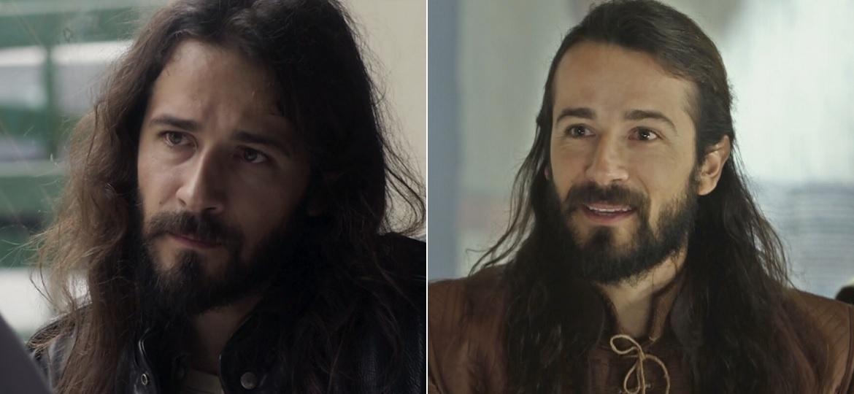 """O ator Paulo Leal em """"Os Dias Eram Assim"""", na Globo, e """"O Rico e Lázaro"""", na Record - Montagem/Reprodução/TV Globo/Record"""
