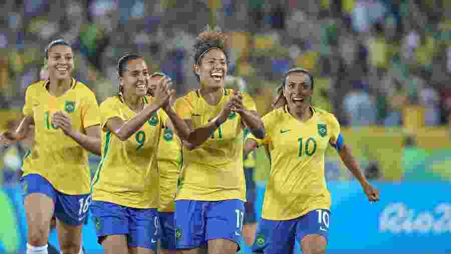 Seleção brasileira feminina vence Copa América e garante vaga em Olimpíada.  Divulgação 3d4985434b19d