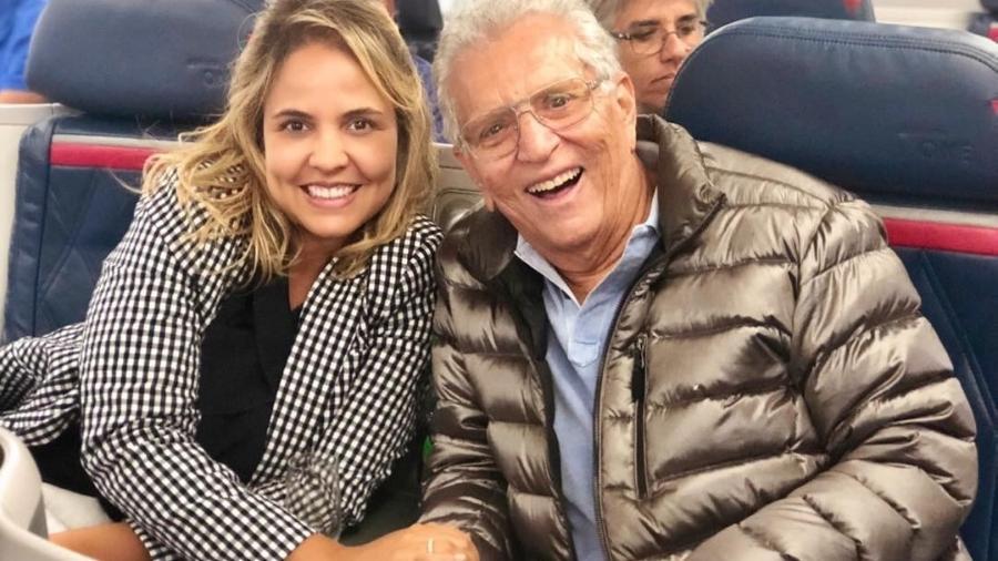 Carlos Alberto e Renata voltam da lua de mel - Reprodução/Instagram