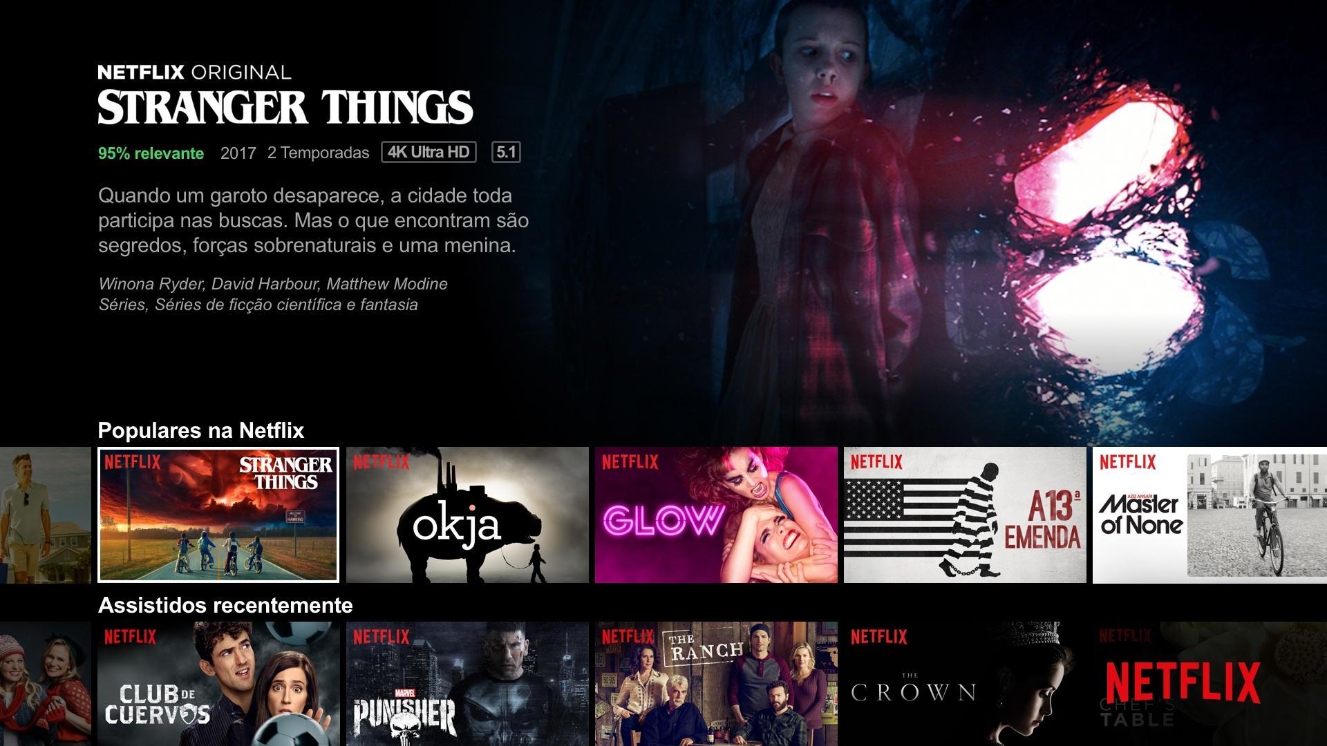 Tela Netflix pt-br