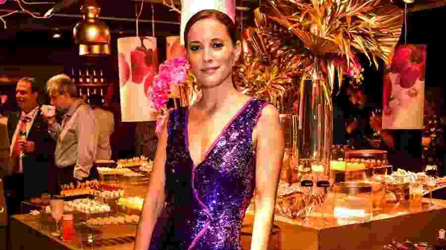 Maria João Bastos, atriz portuguesa que vive entre o Rio e Lisboa, em evento no Fasano - Mariama Prieto/Divulgação