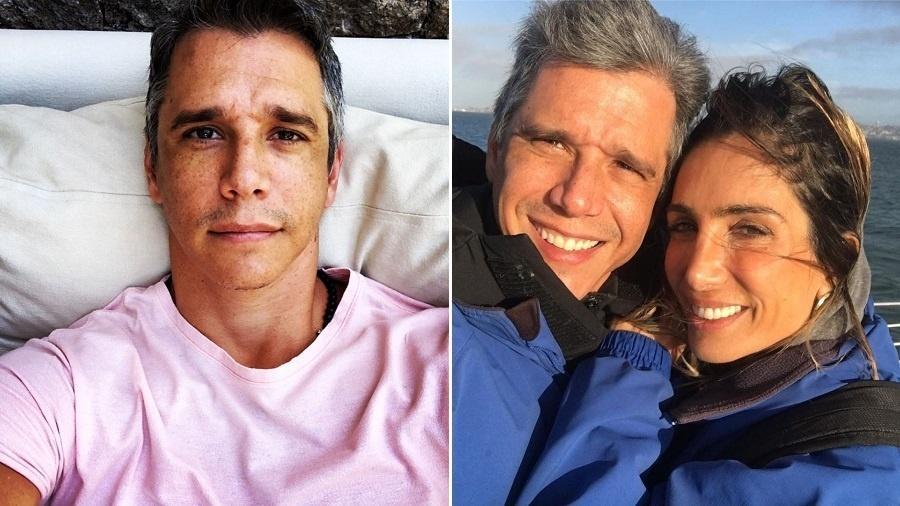 Marcio Garcia vestiu rosa em crítica à ministra Damares Alves, mas depois publicou foto vestindo azul para se explicar - Montagem/UOL/Reprodução/Instagram/oficialmarciogarcia