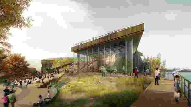 Concepção artística do novo museu da Estátua da Liberdade - libertyellisfoundation.org - libertyellisfoundation.org