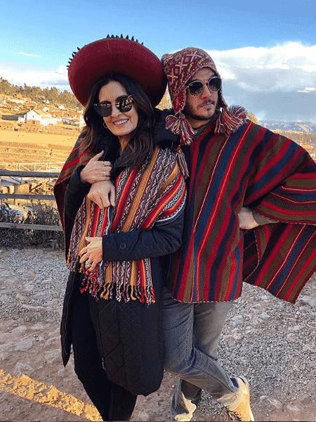 Fátima Bernardes e Túlio Gadêlha no Peru - Reprodução/Instagram
