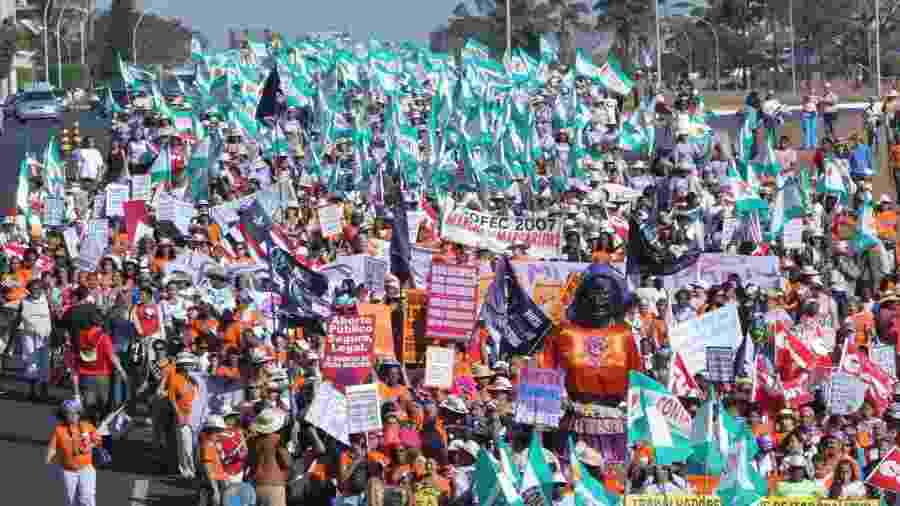 Marcha das Margaridas, evento em Brasília que reúne camponesas de todos os estados - Cesar Ramos-Arquivo/Divulgação