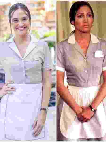 Juliana Paiva se inspirou em Jennifer Lopez para compor sua personagem em Salve-se Quem Puder - Globo/ João Miguel Junior e Reprodução