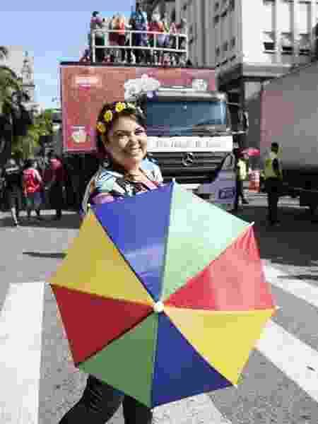 Fabiana Karla no bloco Chora, me Liga. que acontece no centro do Rio de Janeiro - Ricardo Borges/UOL