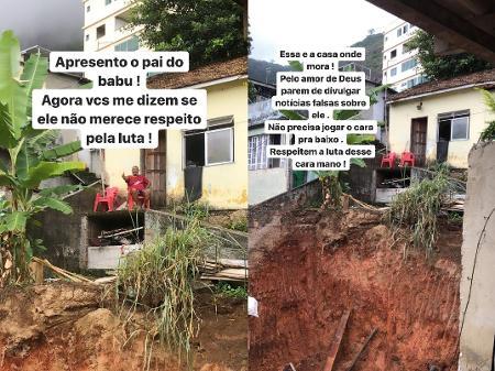 Casa do pai de Babu no Vidigal - Reprodução/Instagram