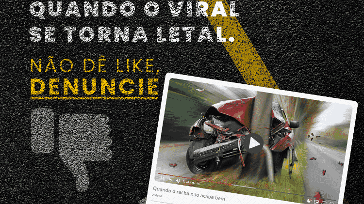 Campanha denúncia Youtubers SOS Estradas FenaPRF - Divulgação - Divulgação