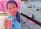 Gretchen mostra normalidade em praia na França e manda recado ao namorado - Reprodução/Instagram