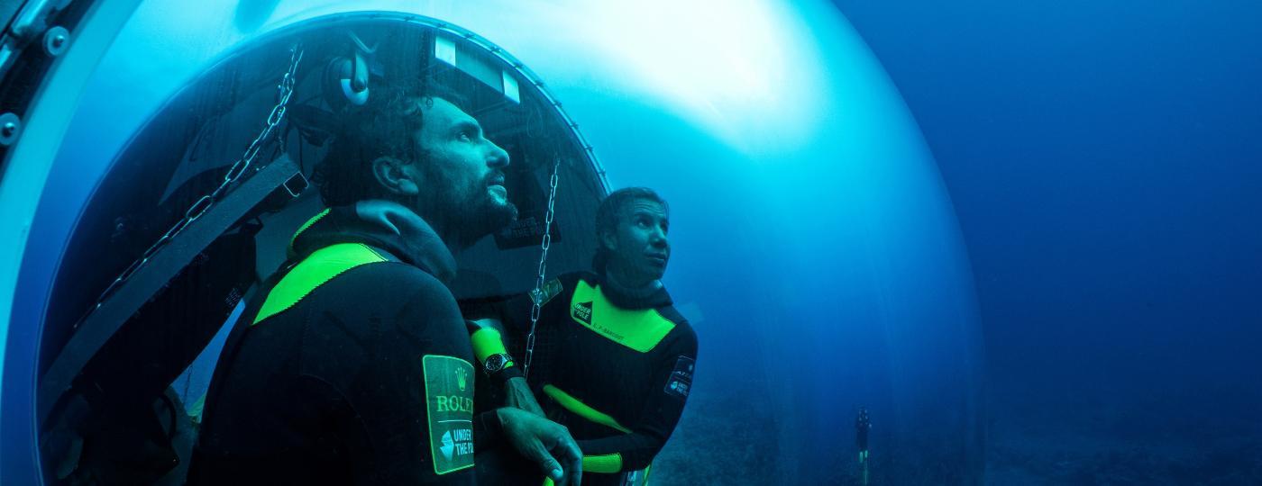 Com a cápsula que criaram, Ghislain e Emmanuelle podem passar até 72 horas seguidas no fundo do mar - Franck Gazzola/Under The Pole/Zeppelin Network