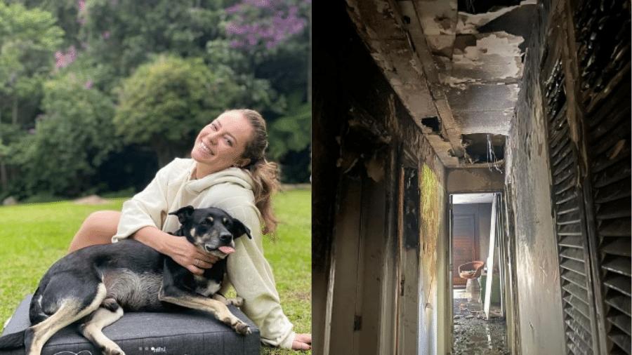 Paolla, que está passando temporada em sítio, teve casa no RJ parcialmente destruída por incêndio - Reprodução/Instagram