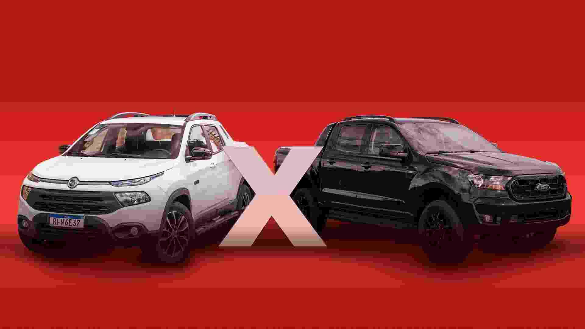 Arte - Ford Ranger Black x Fiat Toro Ultra - horizontal - Arte UOL