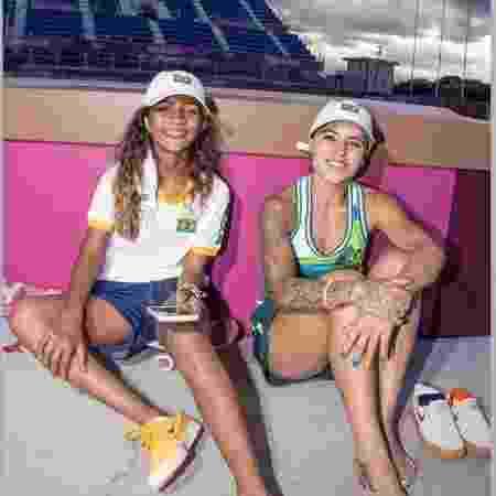 Rayssa Leal e Leticia Bufoni: parceria na Olimpíada - Reprodução/Instagram - Reprodução/Instagram