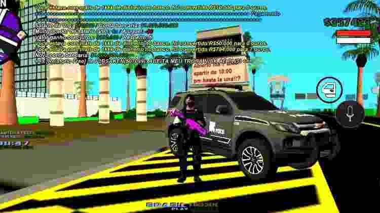 GTA RP no servidor PlayVicio - Reprodução/PlayVicio - Reprodução/PlayVicio