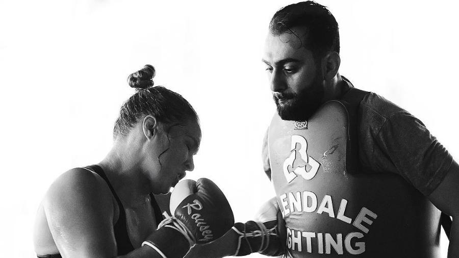 Ronda Rousey treina com Edmond Tarvedyan - Reprodução/Instagram