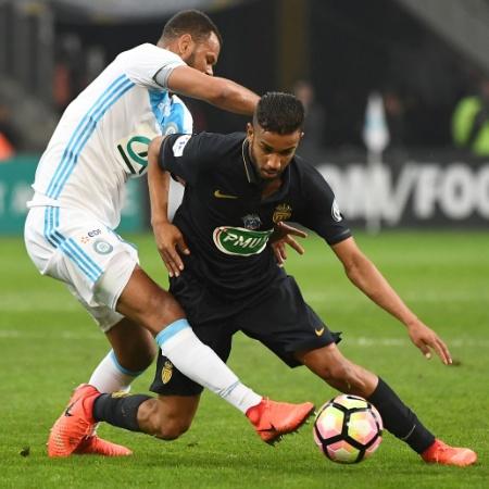Lateral esquerdo Jorge em sua estreia pelo Monaco, contra o Olympique - Boris Horvat/AFP