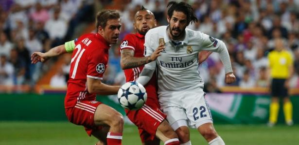 Isco em ação contra o Bayern pela Liga dos Campeões