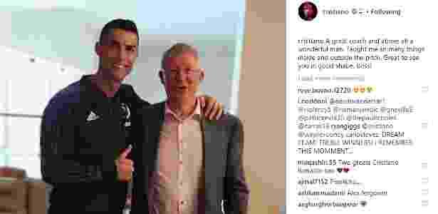 Mensagem de Cristiano Ronaldo para Alex Ferguson - Reprodução/Instagram