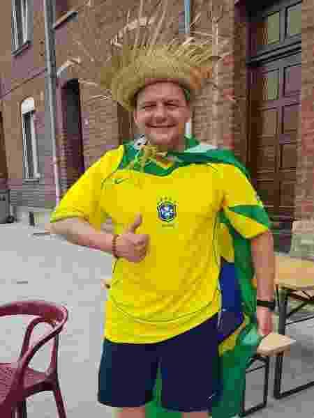 Francês Jean Christophe, que foi torcer pelo Brasil contra a Itália na Copa do Mundo feminina - Ana Carolina Silva/UOL