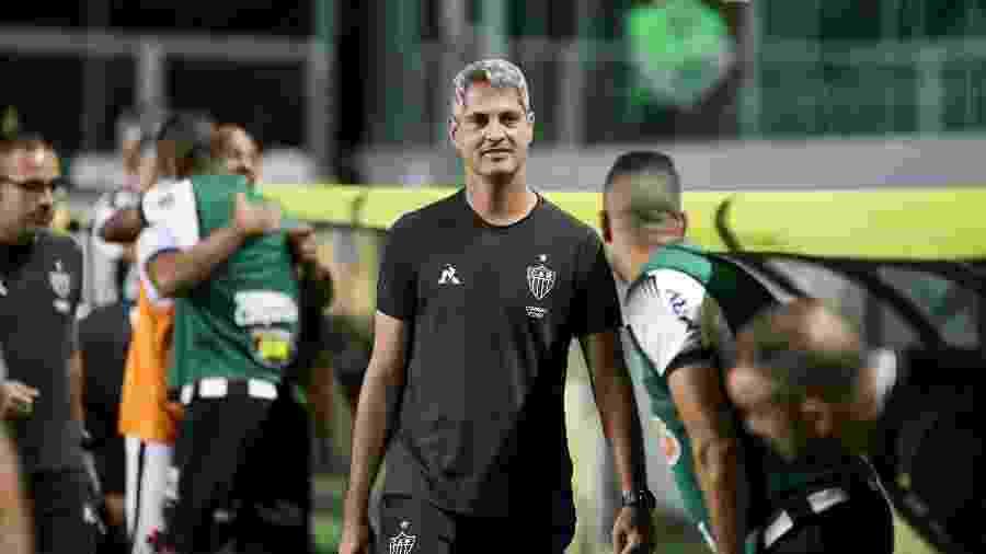 Rodrigo Santana, treinador do Atlético-MG, vive momento conturbado na temporada  - Bruno Cantini/Divulgação/Atlético-MG