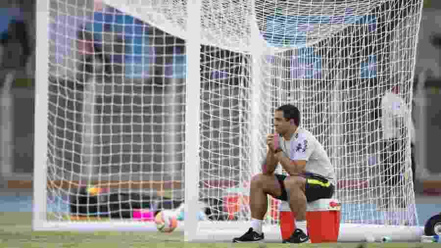 Jardine tem tido a difícil missão de dar segurança a zaga brasileira no Pré-Olímpico - Lucas Figueiredo/CBF