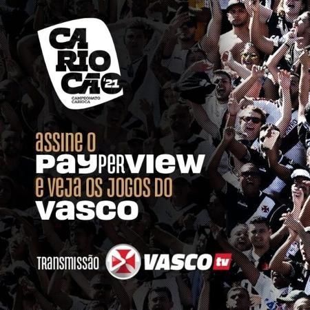 Vasco anuncia transmissão de jogos do Carioca na Vasco TV  - Reprodução / site oficial Vasco