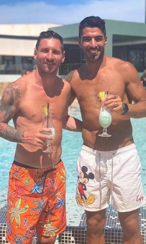 Messi e Suárez aproveitando as férias juntos