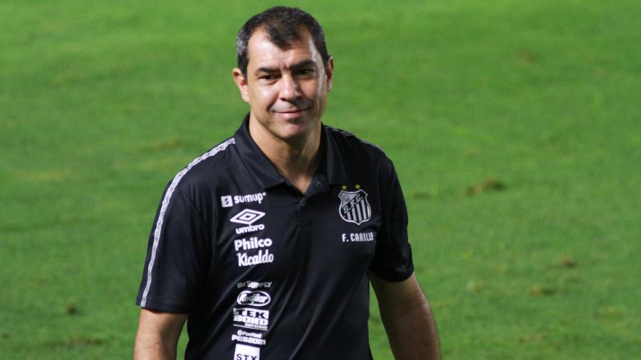 Carille estreou pelo Santos contra o Bahia - Fernanda Luz/AGIF