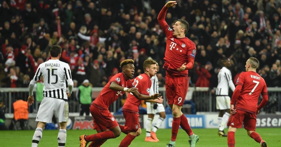 Lewandowski marcou gol do Bayern de Munique contra a Juventus pela Liga dos Campeões