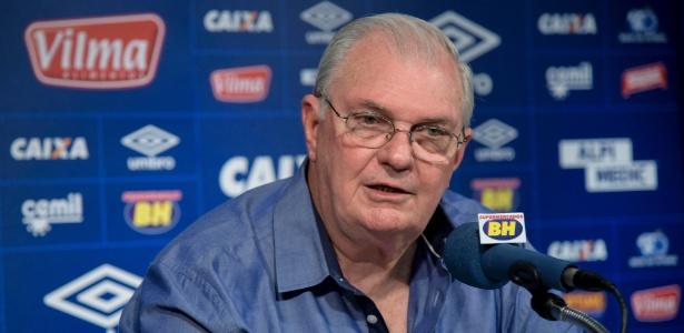Gilvan de Pinho Tavares, presidente do Cruzeiro, demonstra tranquilidade com dívidas na Fifa