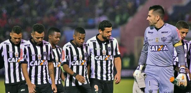 Yago, Rafael Carioca, Cazares, Robinho, Fred e Victor saem cabisbaixos após Jorge Wilstermann x Atlético-MG pela Libertadores