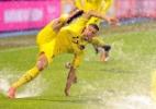 Chuva alaga gramado, e jogo entre Croácia e Kosovo é suspenso - Str Org/AFP