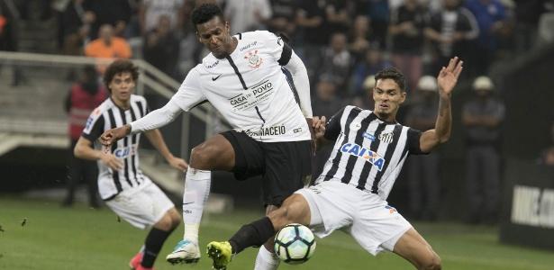 Jô encara Lucas Veríssimo, considerado na Vila o melhor defensor do Santos