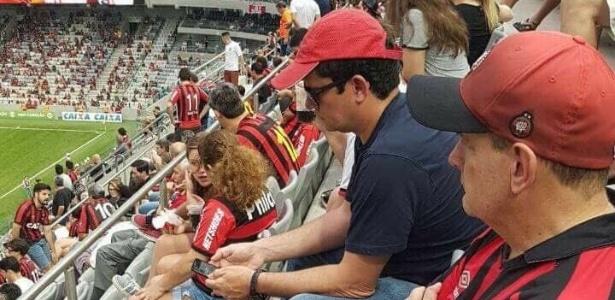 Juiz Moro foi fotografado por torcedor no estádio do Atlético-PR