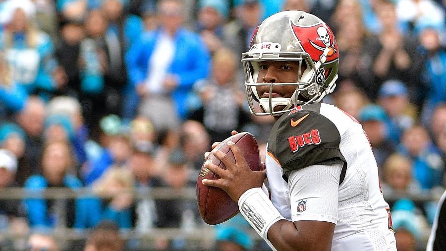 Jameis Winston, quarterback do Tampa Bay Buccaneers, da NFL - Grant Halverson/Getty Images