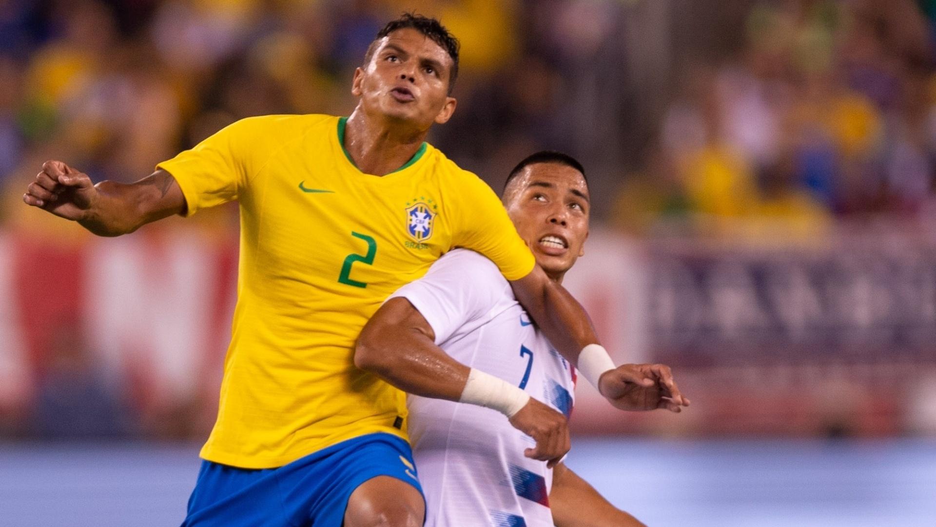 Thiago Silva, titular na Copa, manteve a vaga na seleção no primeiro jogo após a eliminação
