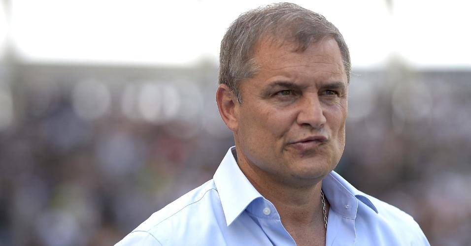 Diego Aguirre, técnico do São Paulo, durante a partida contra o Botafogo