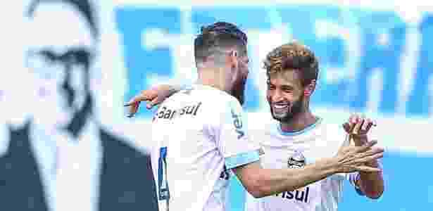 Juninho Capixaba já marcou quatro gols pelo Grêmio em apenas seis partidas - Lucas Uebel/Grêmio