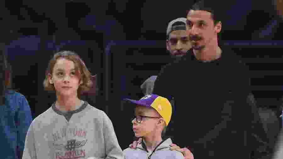 Zlatan Ibrahimovic e seus filhos Maximilian e Vincent  - Jayne Kamin-Oncea/Getty Images